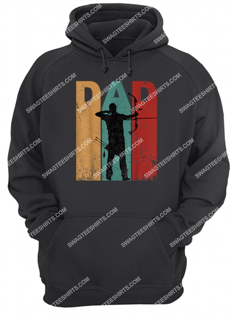 vintage archery dad 4th of july gift archer hoodie 1