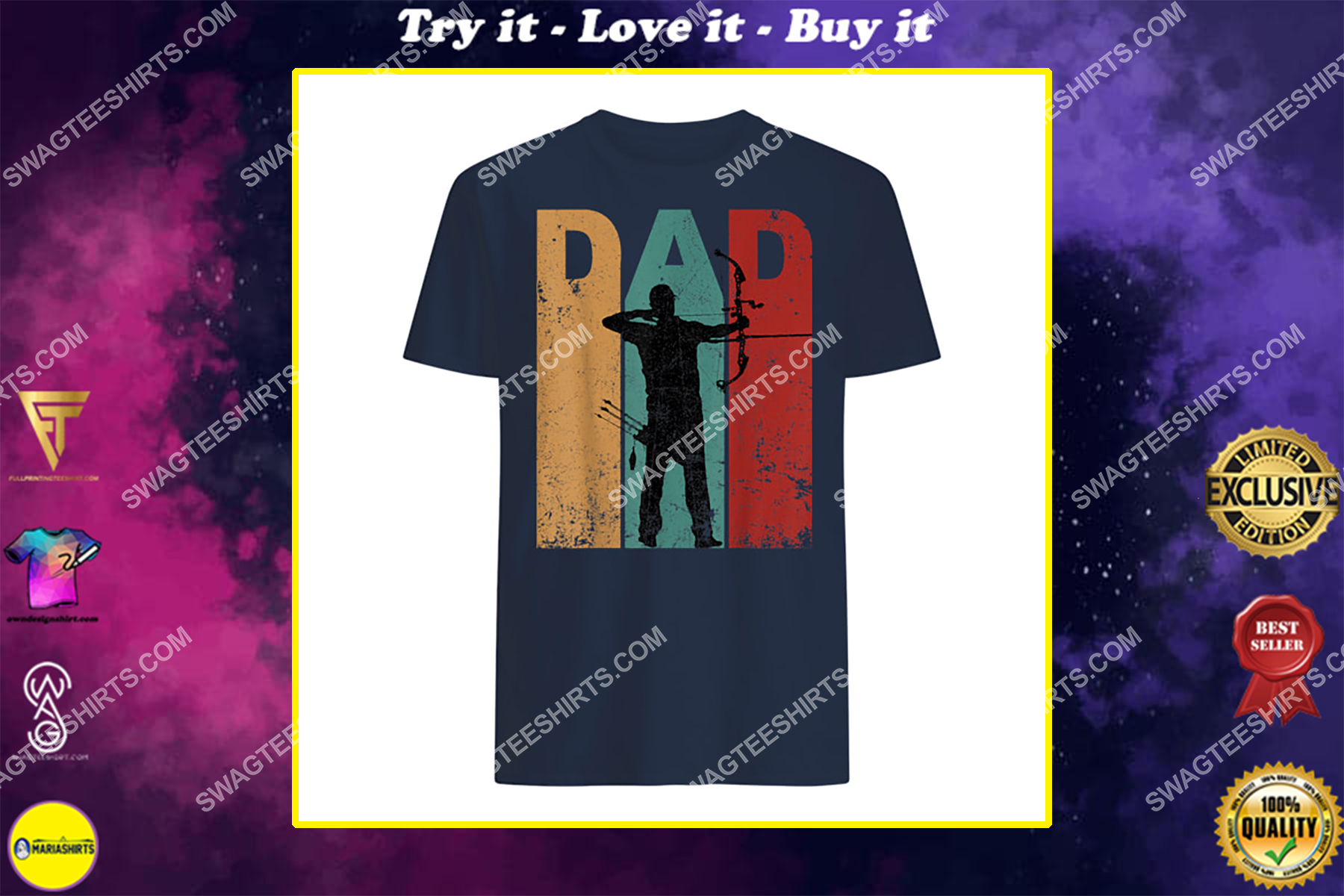 vintage archery dad 4th of july gift archer shirt