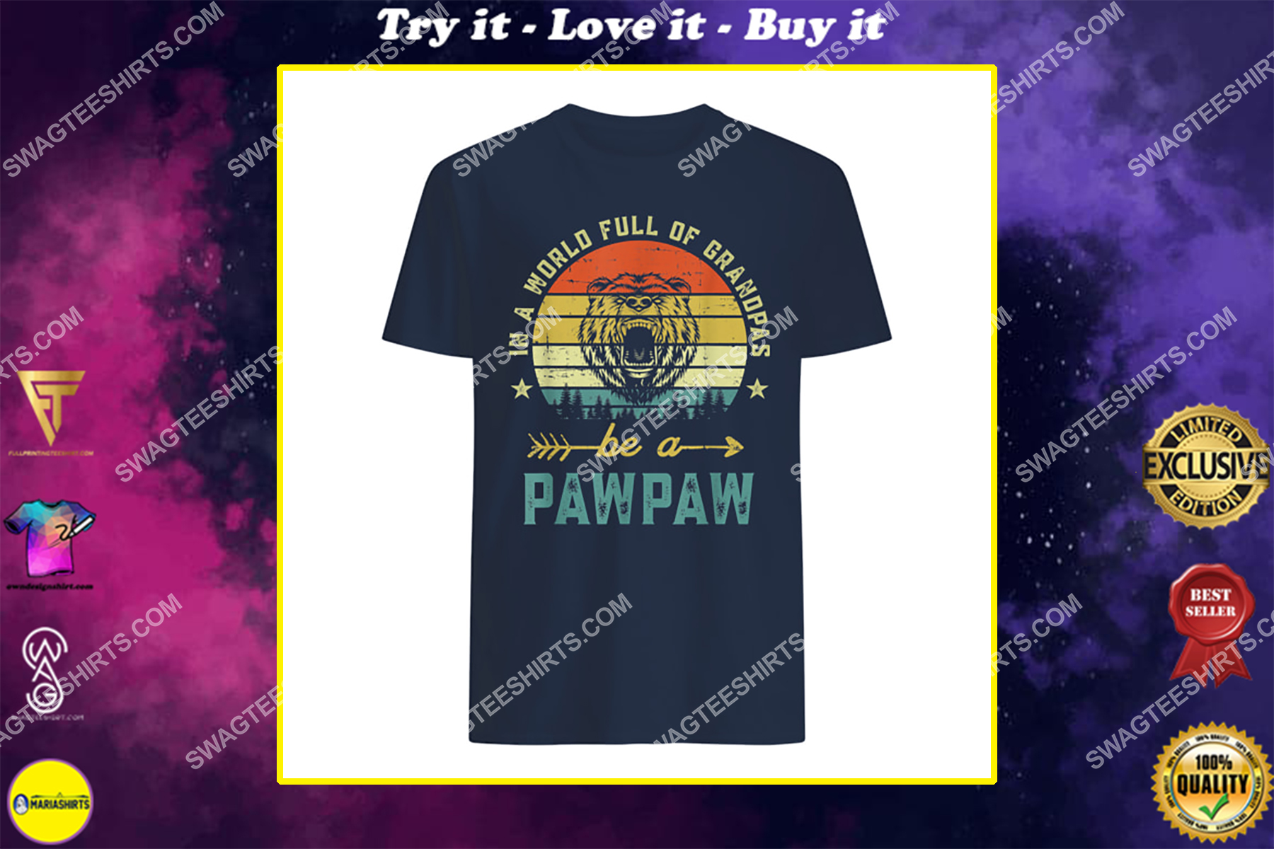 vintage in a world full of grandpas be a pawpaw shirt