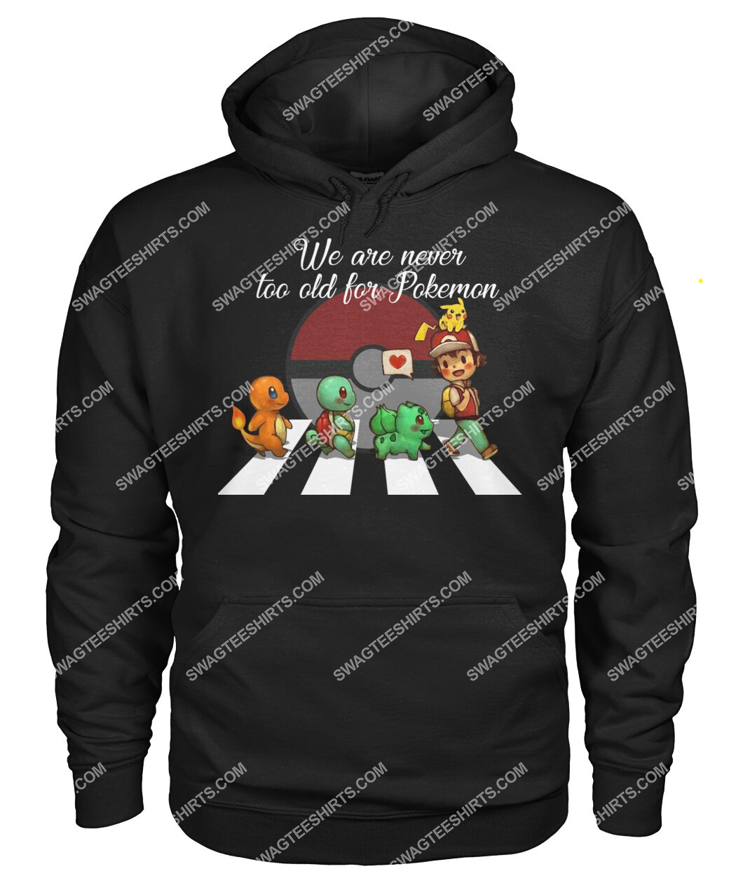 we are never too old for pokemon abbey road hoodie 1