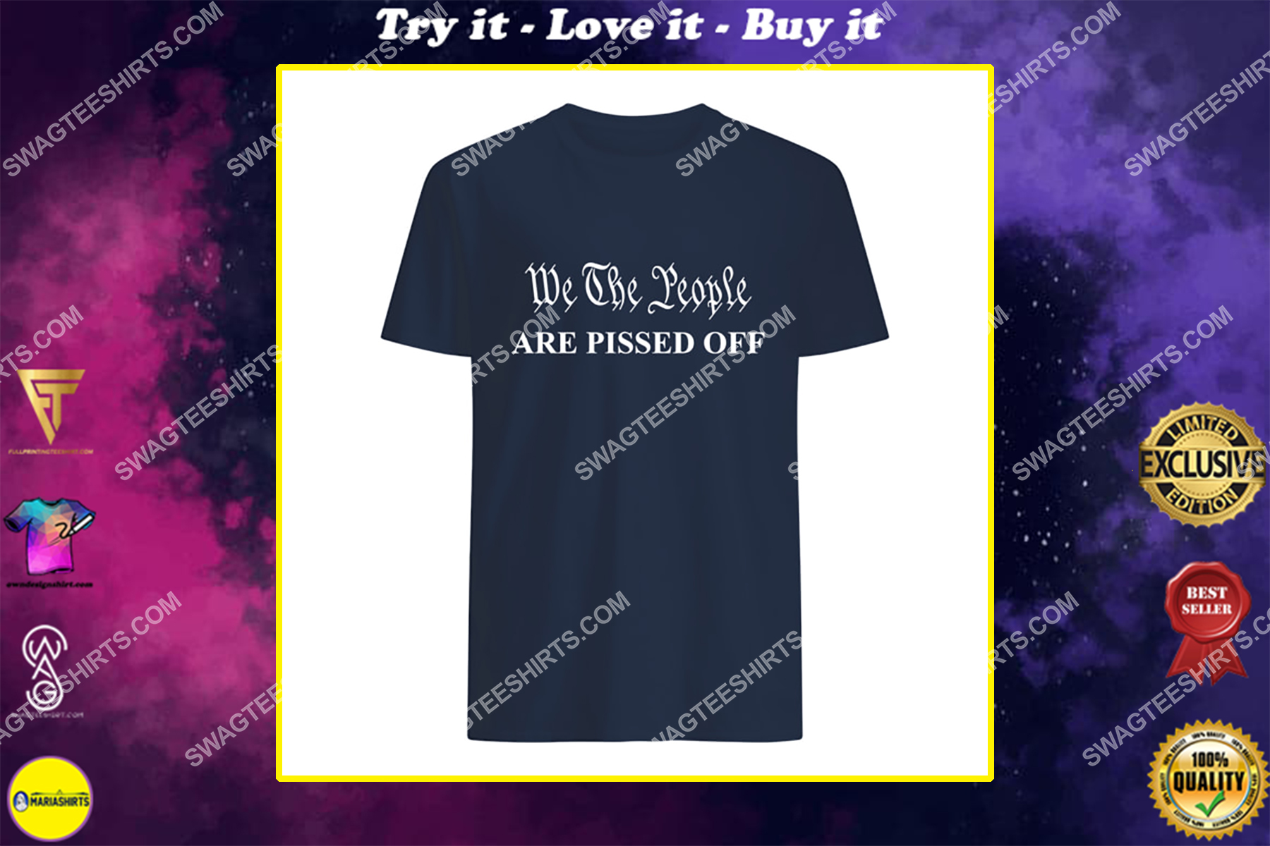 we the people are pissed off fight for democracy politics shirt