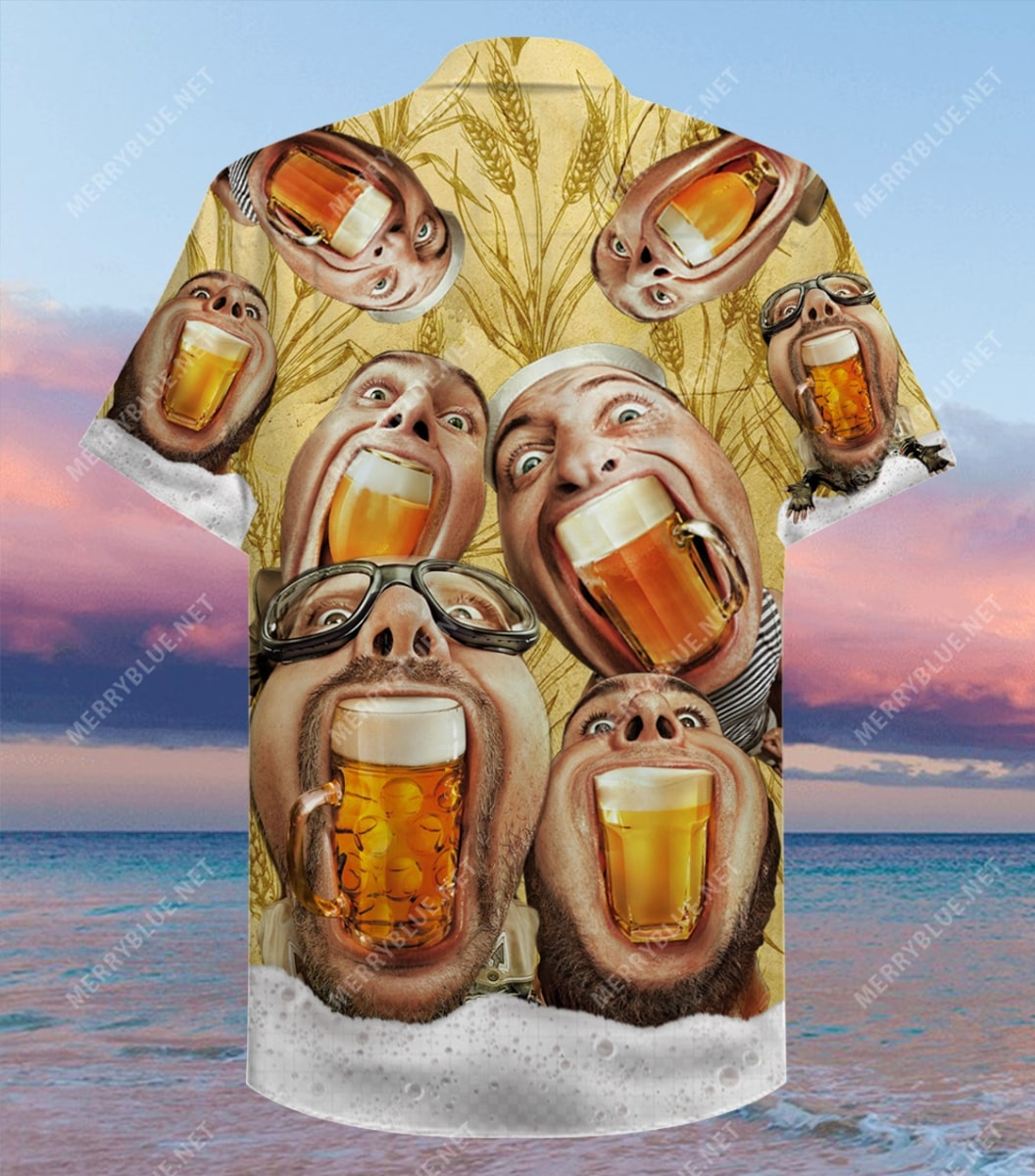 wish you were beer party all over printed hawaiian shirt 5