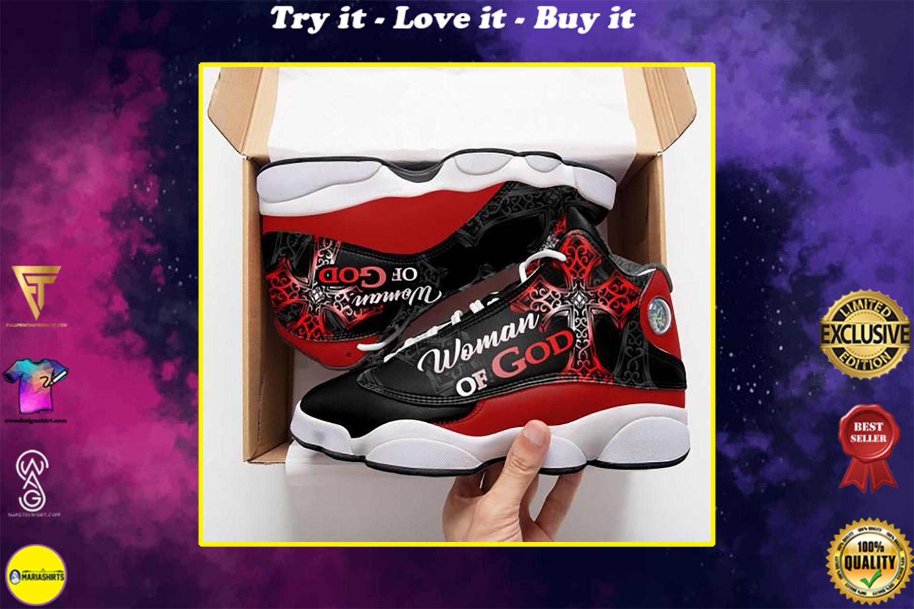 woman of God all over print air jordan 13 sneakers
