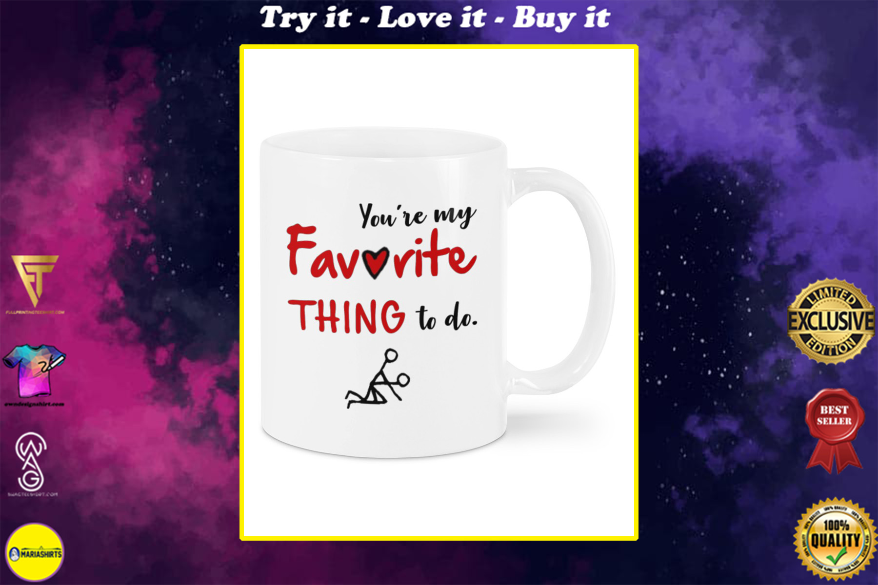 you're my favorite thing to do happy valentine's day mug