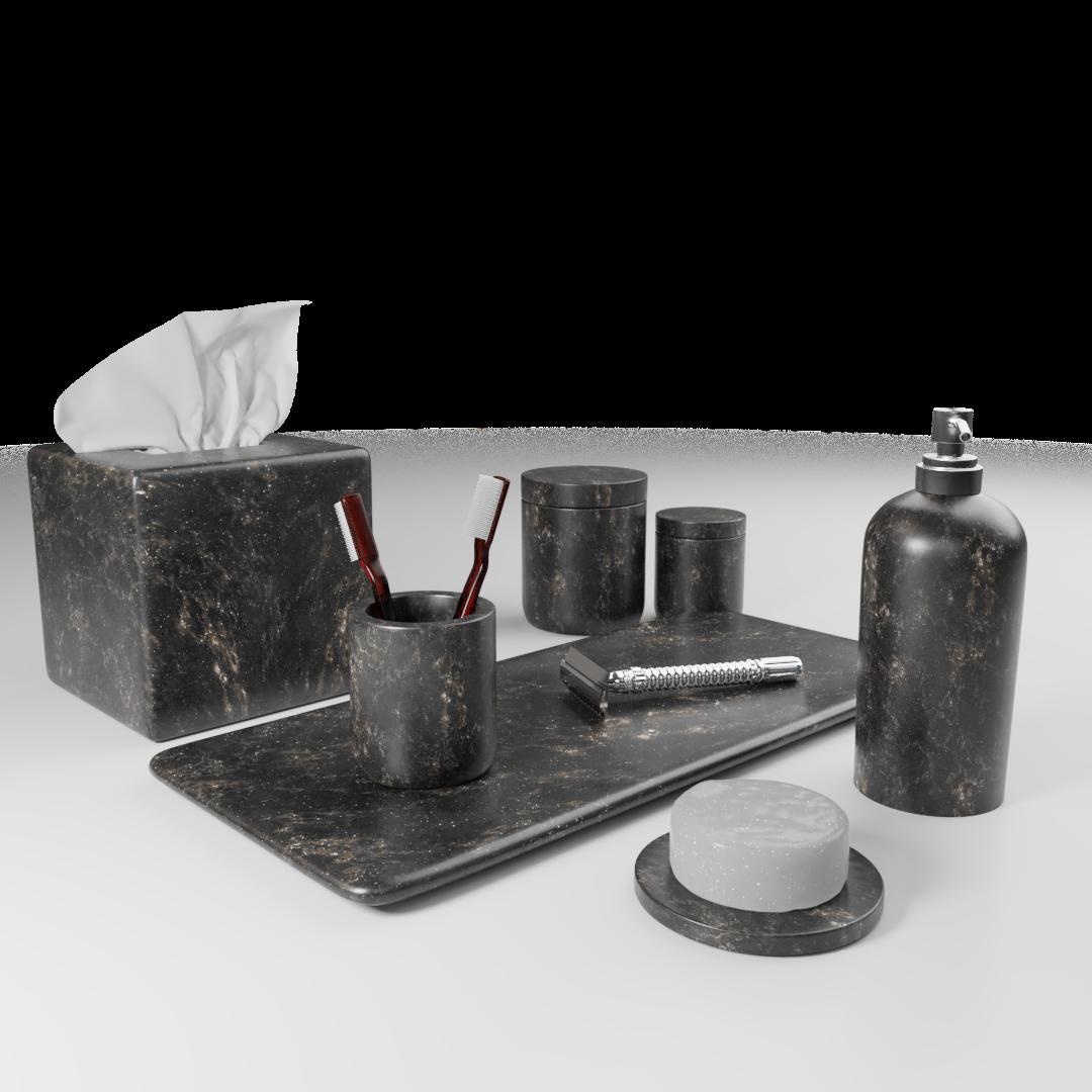 Matching Black Bathroom Set Imeshh