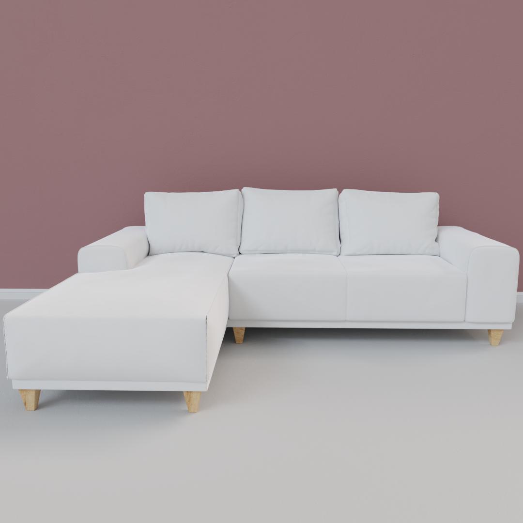 Modern White L Shaped Sofa Imeshh