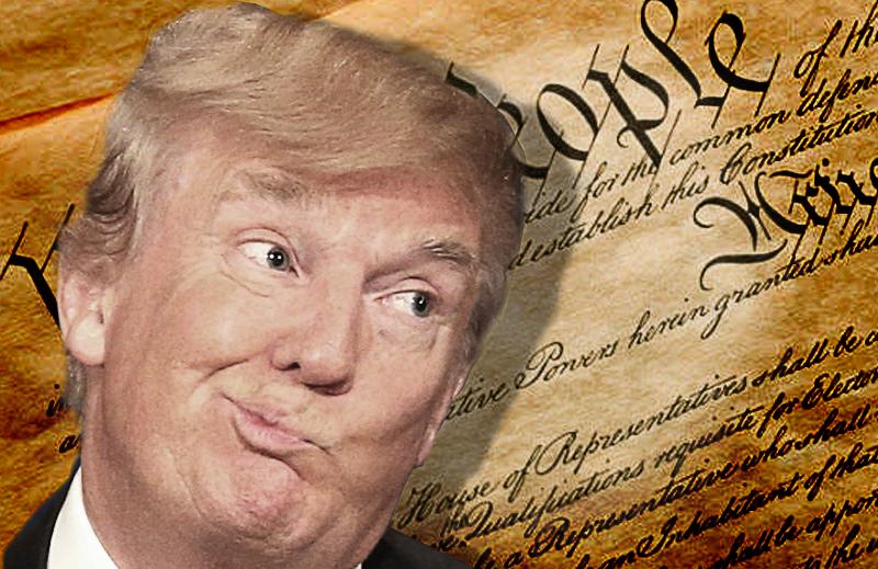 Trump está cumprindo o juramento de defender a Constituição dos EUA?