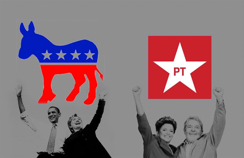 Quais as semelhanças entre o Partido Democrata americano e o PT?
