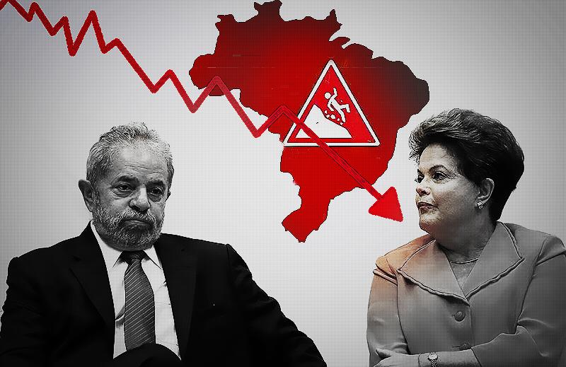 Brasil entre os 10 piores países do mundo em crescimento econômico!