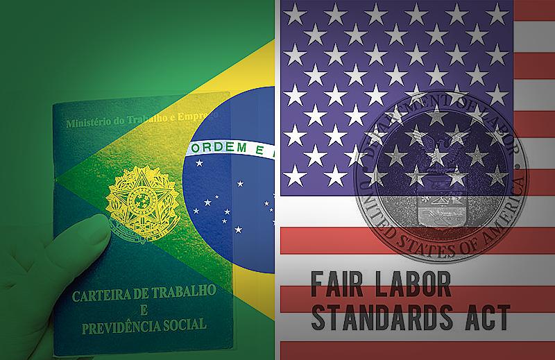 Quais são as diferenças entre as leis trabalhistas nos Estados Unidos e Brasil?