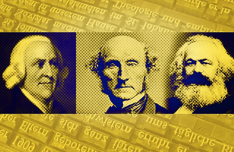 Conheça as palavras mais usadas por Smith, Mill e Marx em textos importantes