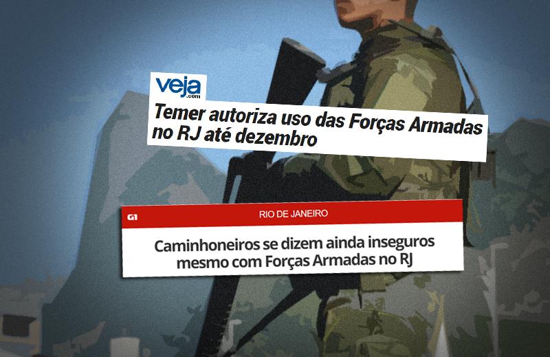 Forças Armadas no RJ: com esta Legislação Penal, de que adianta?
