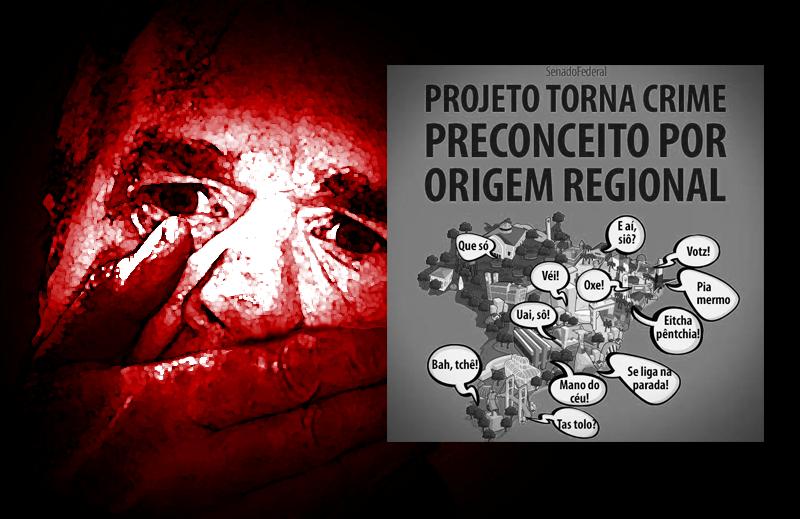 """Senado quer tornar o """"preconceito regional"""" crime inafiançável"""