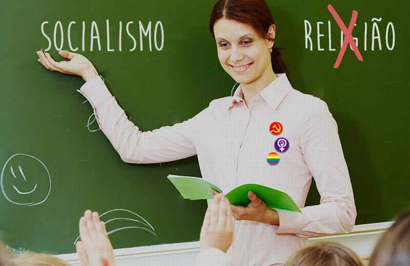 A esquerda não quer ensino religioso nas escolas, mas quer doutrinar