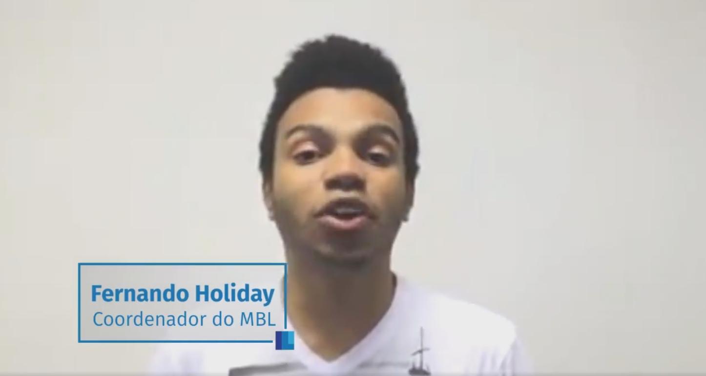 Mensagem de Fernando Holiday