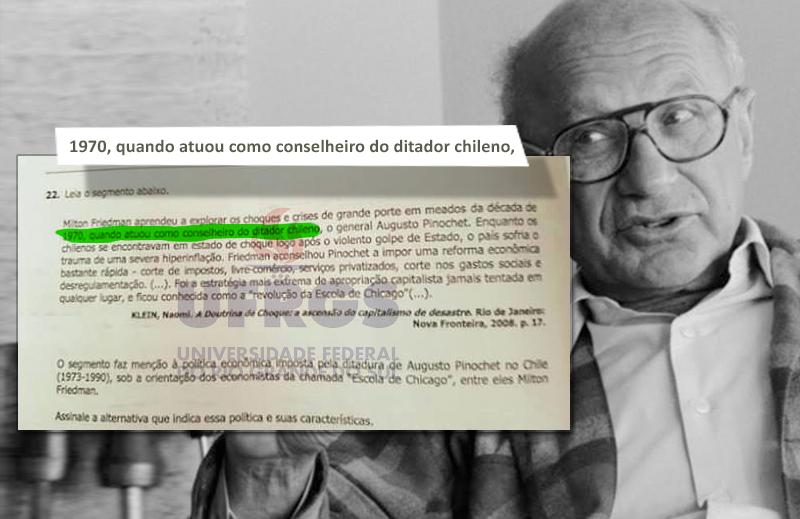 Proselitismo ideológico no vestibular da UFRGS: em defesa de Milton Friedman