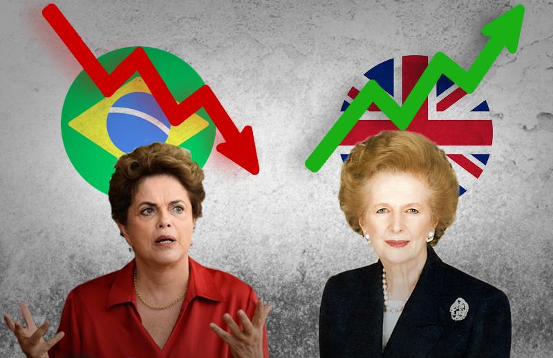 O crescimento das ideias liberais contou com duas mulheres: Margaret Thatcher e Dilma Rousseff