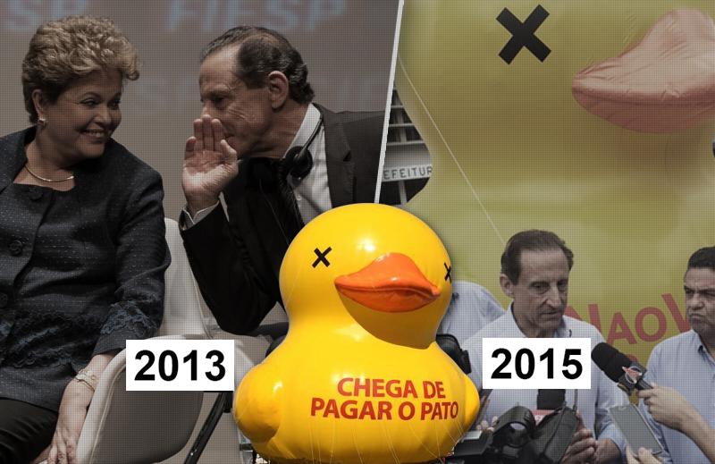 A história do pato nas manifestações pró-impeachment