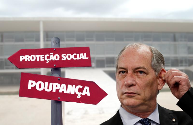 Aumentar a taxa de poupança e expandir a rede de proteção social: a encruzilhada de Ciro Gomes