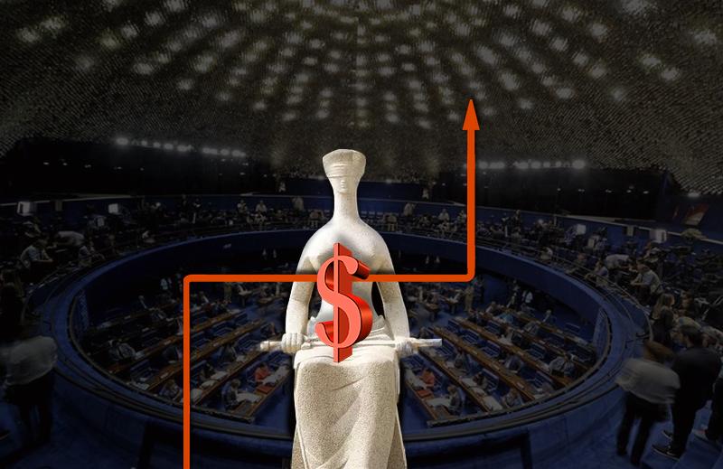 Votos por partido para o aumento do salários dos ministros do STF