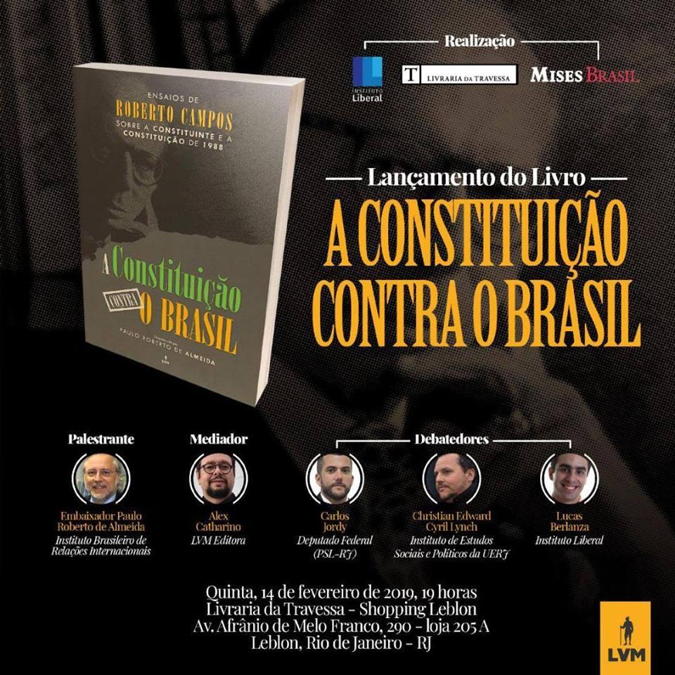 """EVENTO – Lançamento do livro """"A Constituição contra o Brasil"""""""