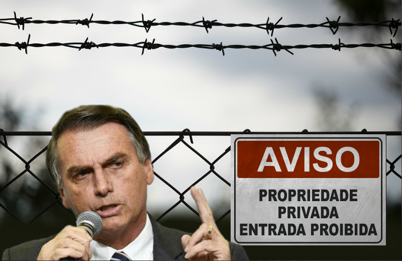 Uma bola dentro do Governo Bolsonaro na questão da invasão de propriedade privada