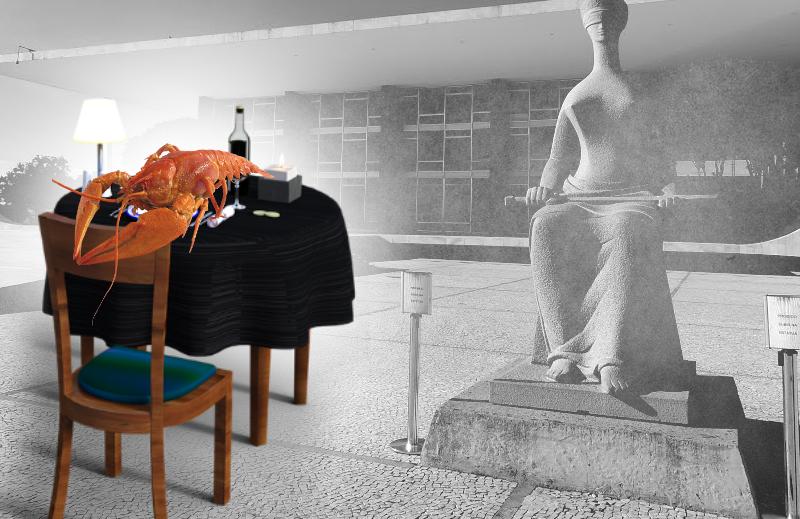 Lagosta, bacalhau, vinhos e uísques aos onipotentes do  STF