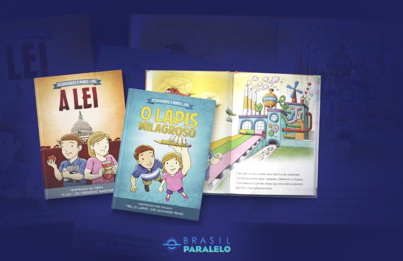 Parceiro do Instituto Liberal publica livros infantis sobre autores liberais