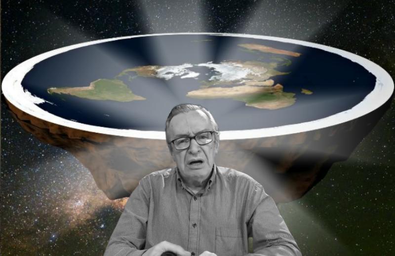 Não comprem essa loucura de terraplanismo só porque o Olavo acenou com simpatia à tese