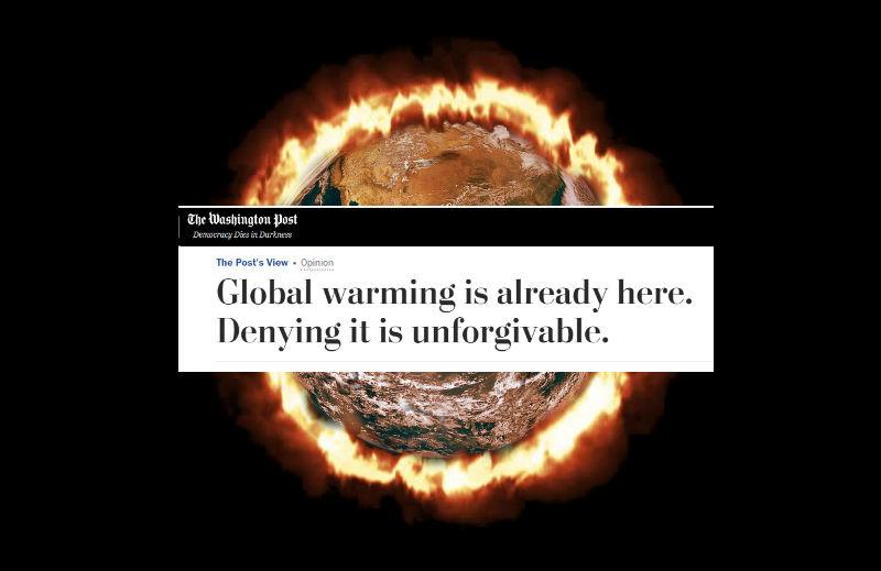 Aquecimento global: quando o jornal Washington Post tentou fazer ciência