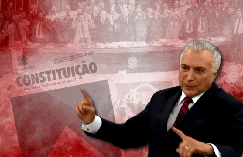 Temer admitiu influências socialistas na Constituição de 88