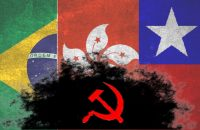 """A """"democracia"""" defendida em Hong Kong, no Chile e agora no Brasil, pelo ex-presidiário, é a ditadura do proletariado."""