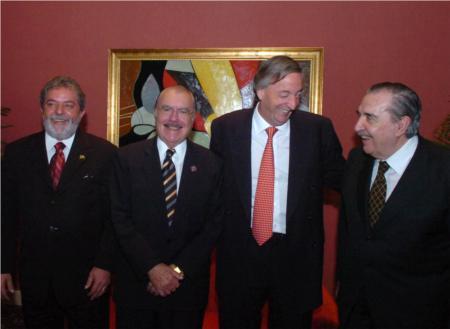 Lula, Sarney, Kirchner e Alfonsín: 20 anos de Mercosul. 30/11/2005