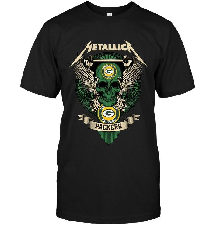 Metallica Green Bay Packers Shirt Tshirt, Hoodie, Sweater Up To 5xl Black