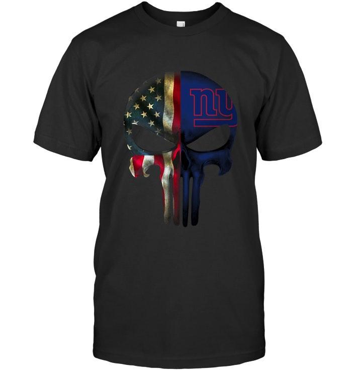 New York Giants Skull American Flag Shirt Tshirt, Hoodie, Sweater Up To 5xl Black