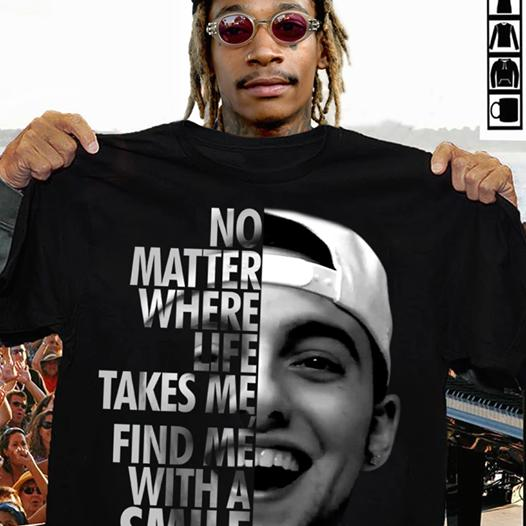 No Matter Where Life Takes Me Find Me With A Smile Mac Miller Shirt Tshirt, Hoodie, Sweater Up To 5xl Black