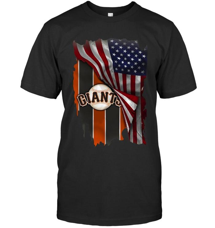 San Francisco Giants American Flag Fan Shirt Tshirt, Hoodie, Sweater Up To 5xl Black