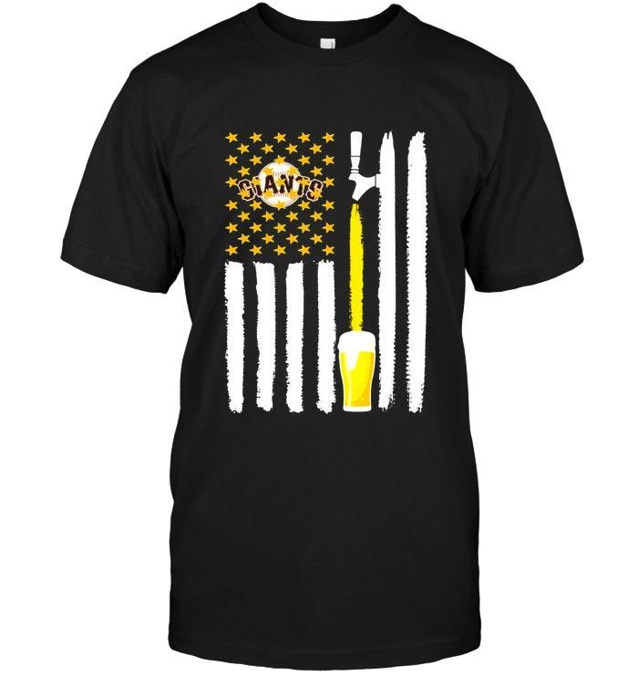 San Francisco Giants Beer American Flag Shirt Tshirt, Hoodie, Sweater Up To 5xl Black