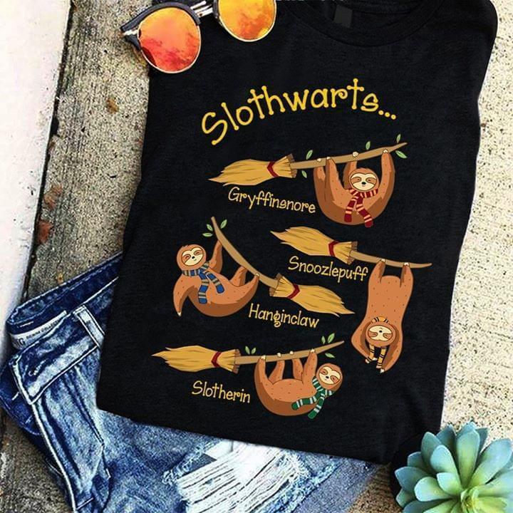 Slothwarts Sloth Harry Potter Shirt Tshirt, Hoodie, Sweater Up To 5xl Black
