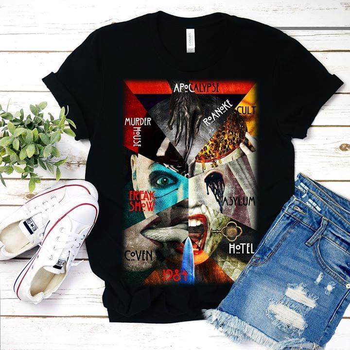 Apocalypse Roanoke Cult Murder House Freak Show Asylum Coven Hotel 1984 Horror Film T Shirt T Shirt Hoodie, Sweater Up To 5xl