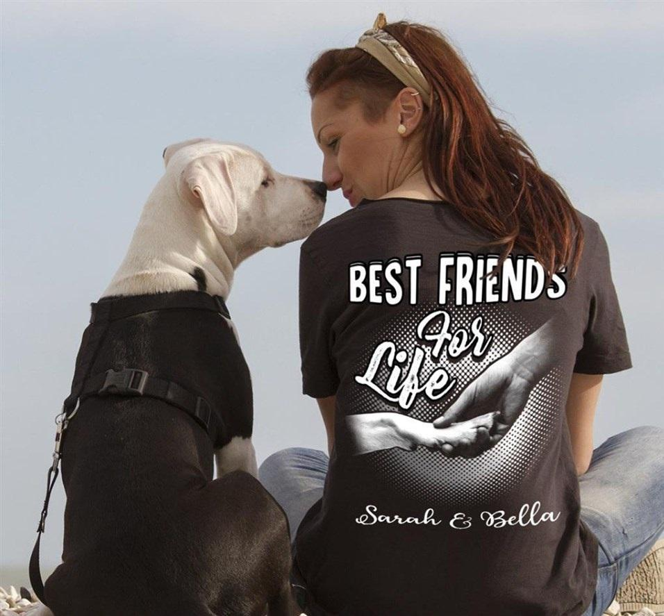 Dog Best Friends For Life Animal Lovers Shirt T Shirt Hoodie, Sweater Up To 5xl