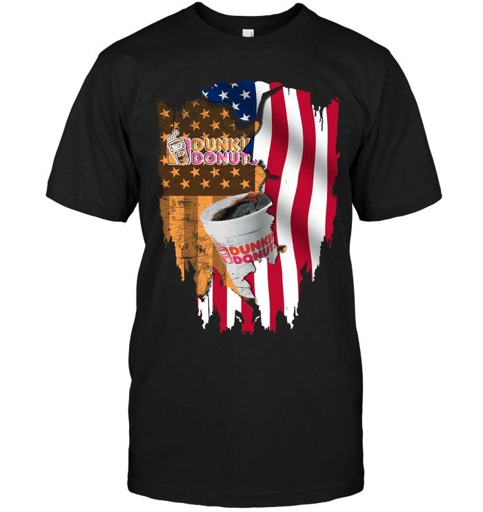 Dunkin Donuts American Flag Shirt T Shirt Hoodie, Sweater Up To 5xl