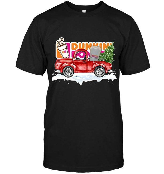 Dunkin Donuts Coffee Christmas Truck Shirt T Shirt Hoodie, Sweater Up To 5xl