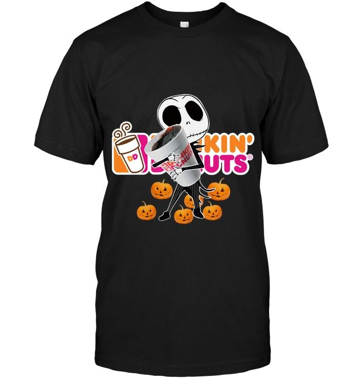 Dunkin Donuts Jack Skellington Halloween Shirt T Shirt Hoodie, Sweater Up To 5xl