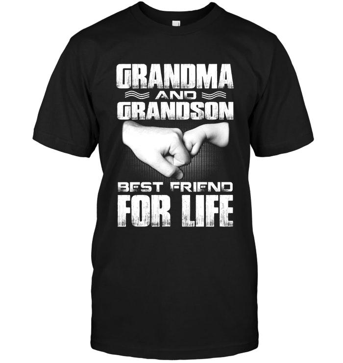 Grandma And Grandson Best Friend For Life Black T Shirt T Shirt Hoodie, Sweater Up To 5xl