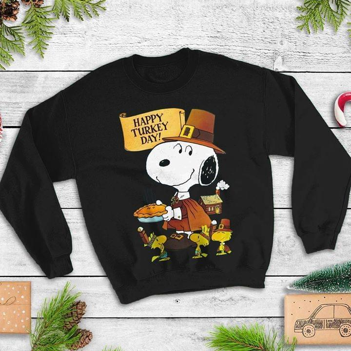 Happy Turkey Day Snoopy Thanksgiving Sweatshirt T Shirt Hoodie, Sweater Up To 5xl