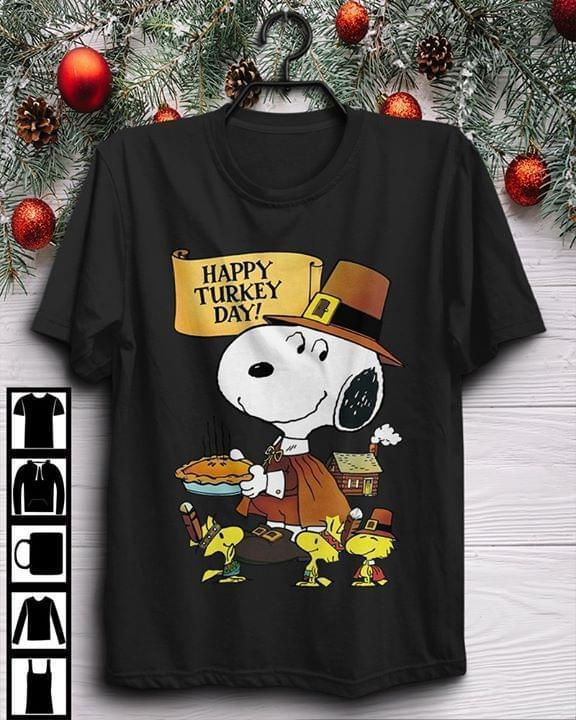 Happy Turkey Day Thanksgiving Day Snoopy T Shirt T Shirt Hoodie, Sweater Up To 5xl