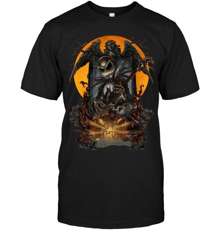 Pink Floyd Jack Skellington Halloween Shirt T Shirt Hoodie, Sweater Up To 5xl