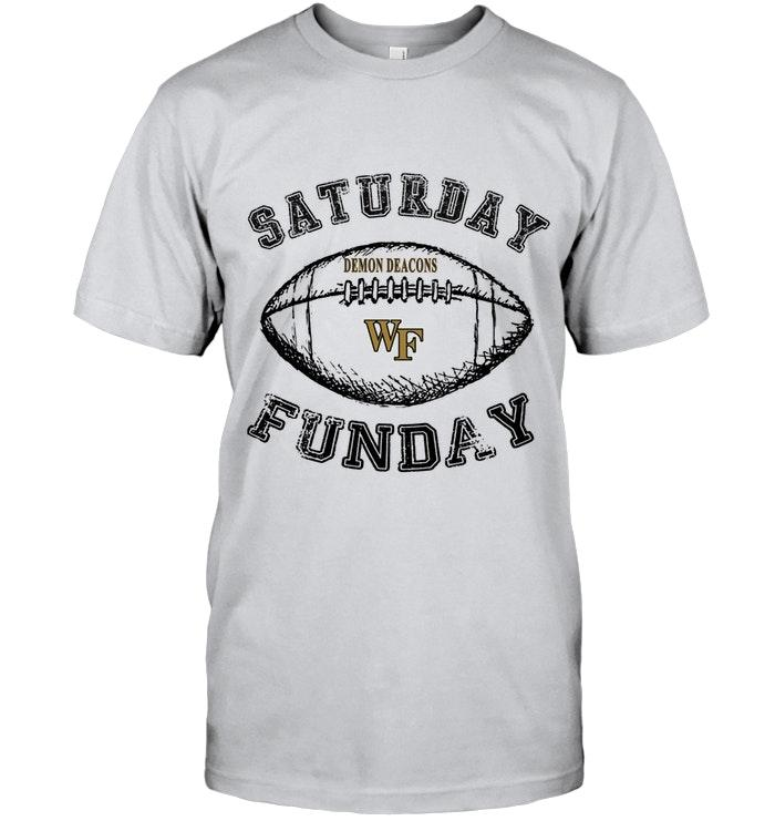 Saturday Funday Wake Forest Demon Deacons Lover Shirt T Shirt Hoodie, Sweater Up To 5xl