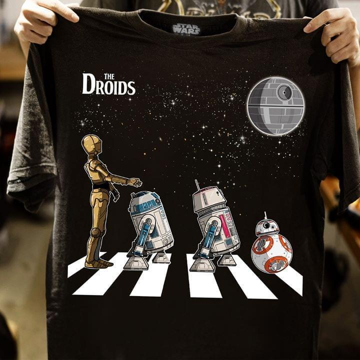 The Droids Abbey Road Star Wars Droids R2 D2 3 Cpo R5 Bb8 T Shirt T Shirt Hoodie, Sweater Up To 5xl